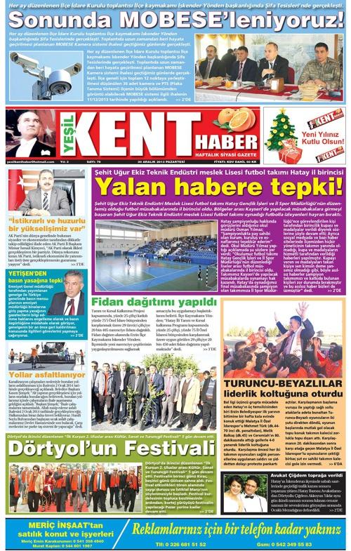Yeşilkent Haber Gazetesi - Sayı 79
