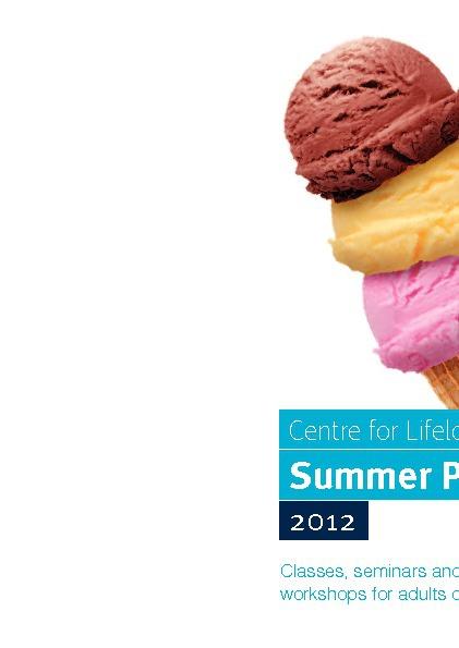 Summer Programme 2012