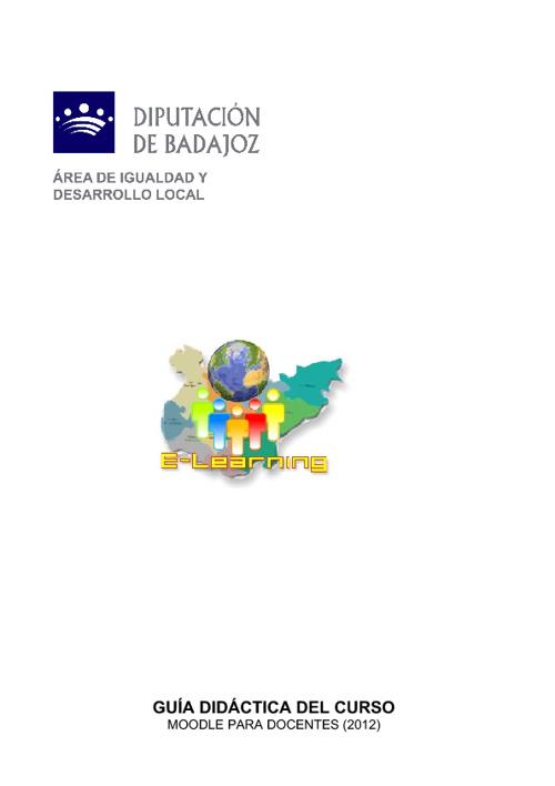 Guía didáctica del curso Moodle para docentes 2012