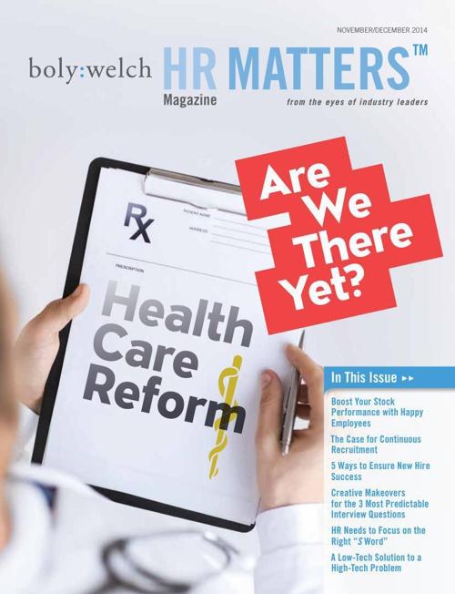 HR Matters Magazine Nov/Dec 2014