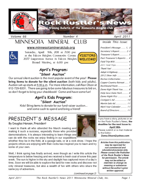 Rock Rustler's News - April 2011