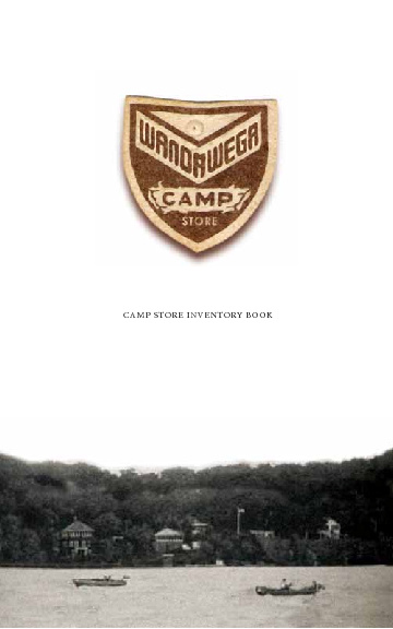 THE CAMP WANDAWEGA SOUVENIR SHOP INVENTORY BOOK