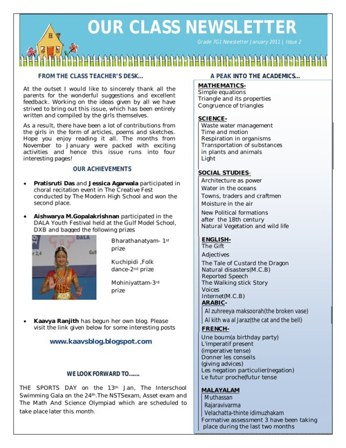 Copy of Newsletter working sample
