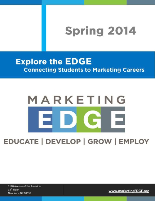 Marketing EDGE | Student Newsletter | Spring 2014