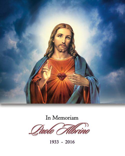 Memorial Card for Paolo Albrino