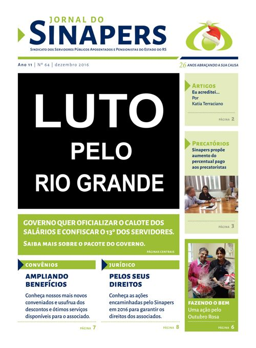 SINAPERS - Ano 11 | Nº64 2016
