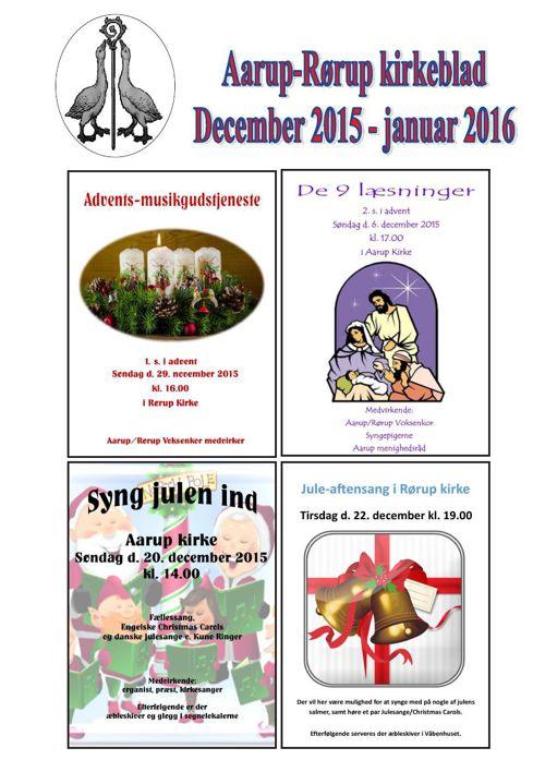 Kirkeblad december 2015-januar 2016  Aarup-Rørup
