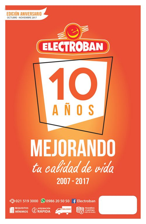 Folleto Aniversario 10 Electroban