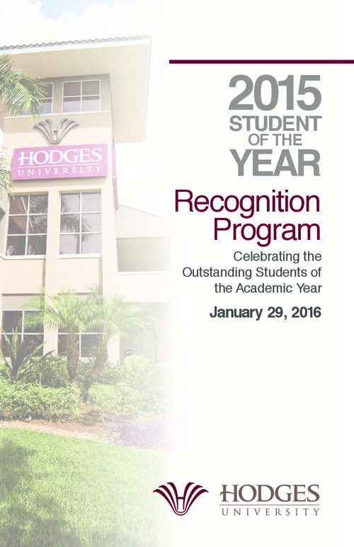 Student of the Year Recognition Program 2015