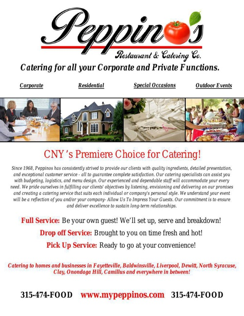 Peppino's Catering Booklet