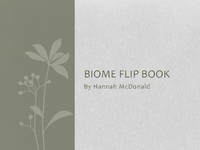 Biome's Book