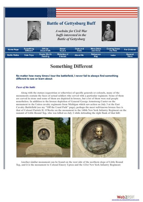 Gettysburg - Something Different