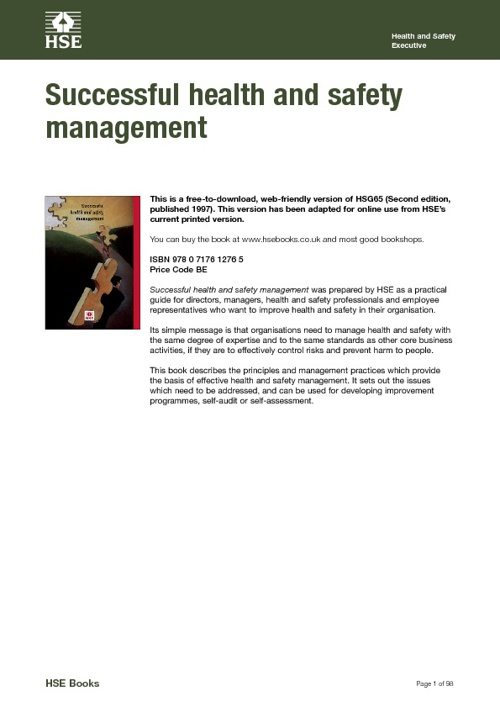 Successful Health & Safety Management