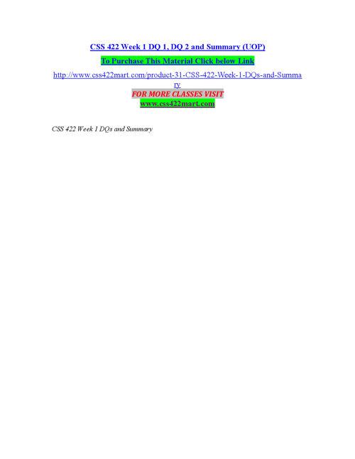 CSS 422 MART Teaching Effectively/css422mart.com