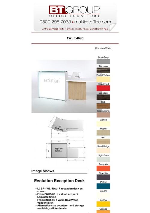 Reception Desks (Products 51-94)