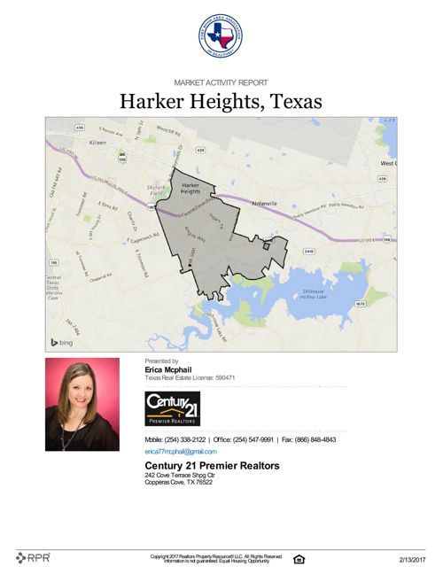 Market Activity Report for Harker Heights, TX as of 2/13/17