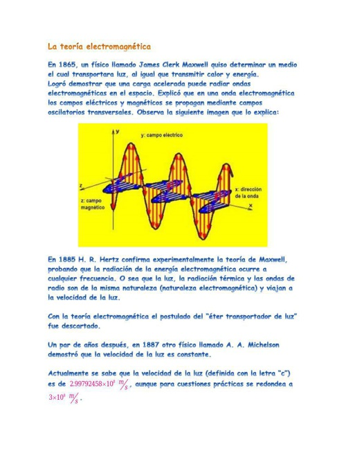La teoría y espectro electromagnético