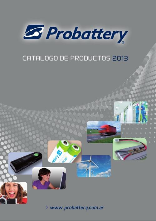 Catalogo Consumer Probattery 2013