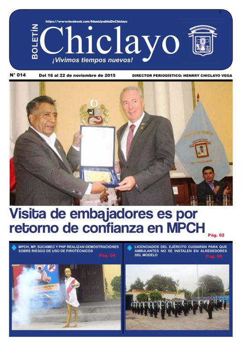 """Boletín """"Chiclayo"""" - N° 014"""