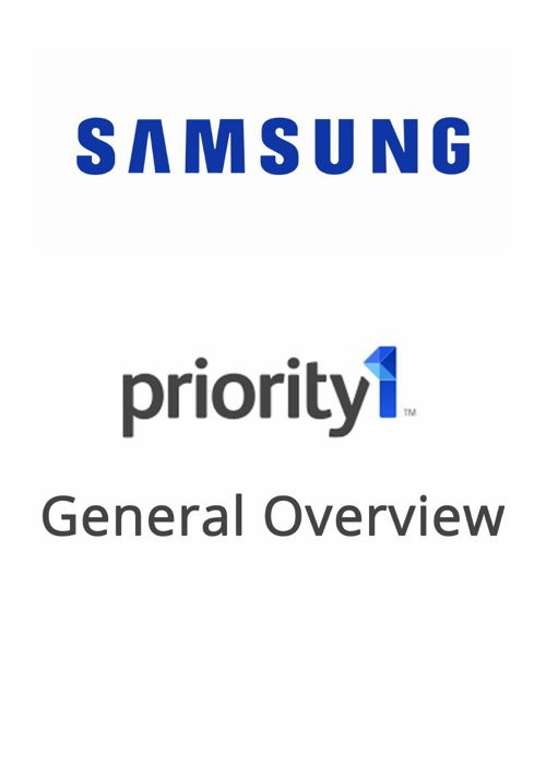 Priority 1 - General Overview