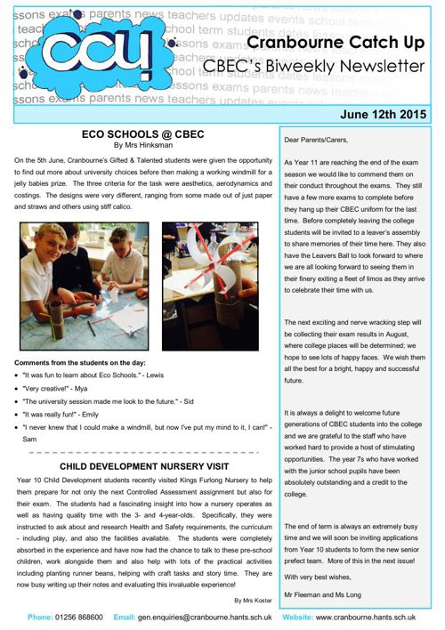 CCU - 12th June 2015
