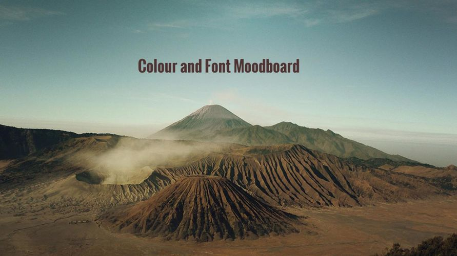 Colours and Fonts Moodboard
