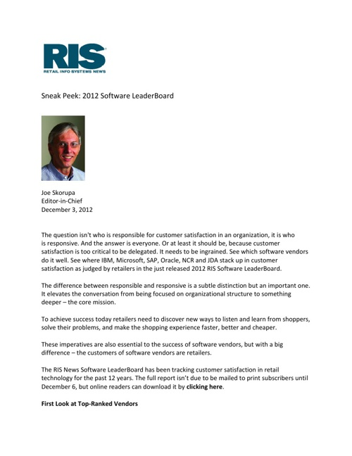 December 2012 SAP Retail Media Coverage