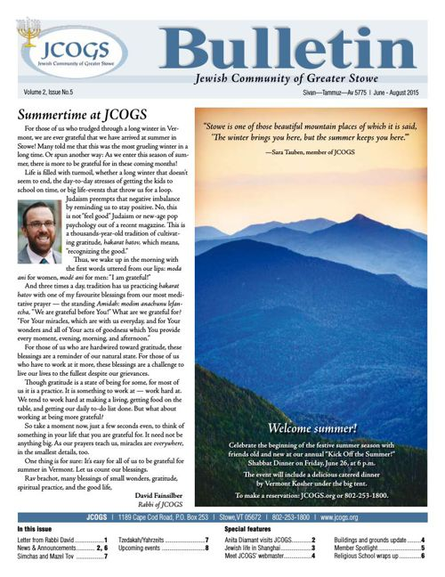 JCOGS Bulletin – Volume 2, Issue 5