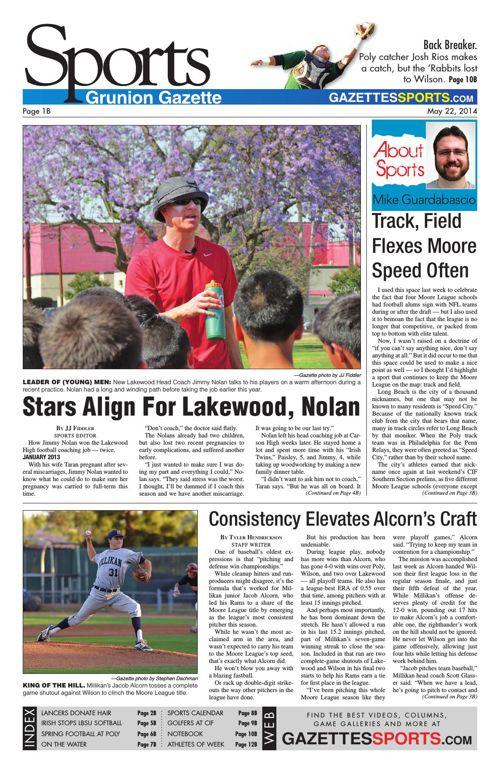 Gazette Sports   May 22, 2014