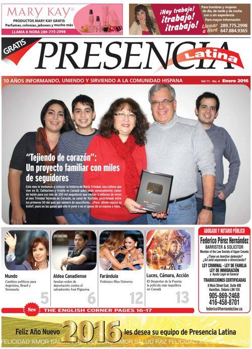 Edicion Virtual Presencia Latina Enero 2016