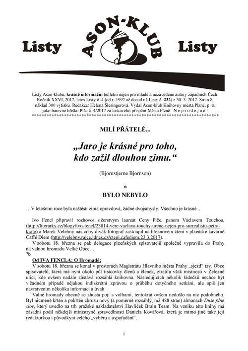 Listy Ason-klubu 4/2017