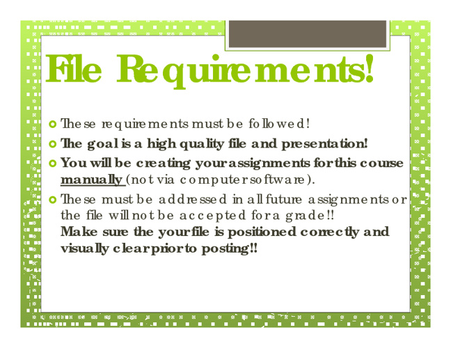 File Requirements & Editing