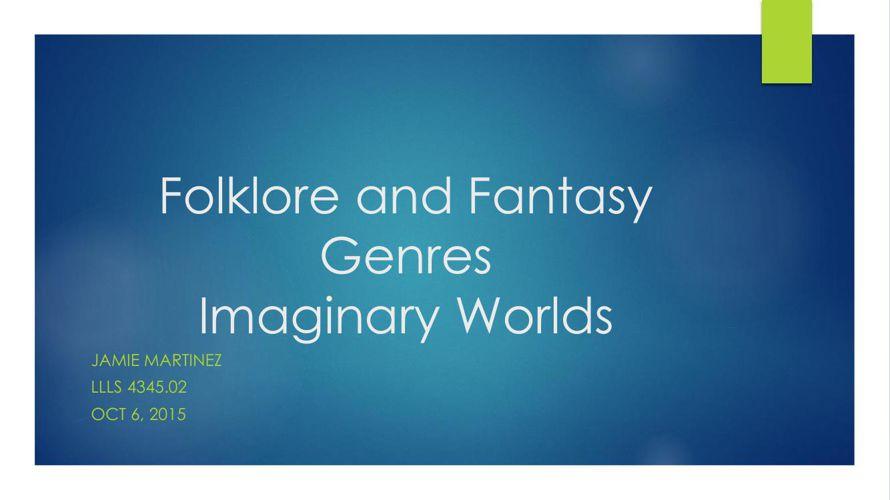 GenreProject_Fantasy&Folklore
