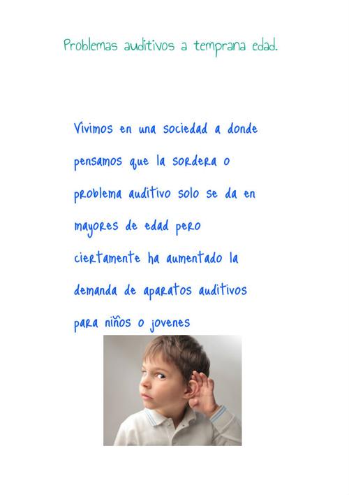 Aparatos auditivos y problemas asociados