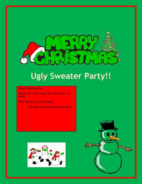 Period 9 Ugly Sweater Projects