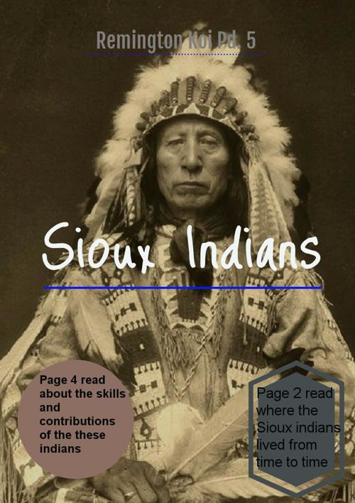 Sioux Indians Project