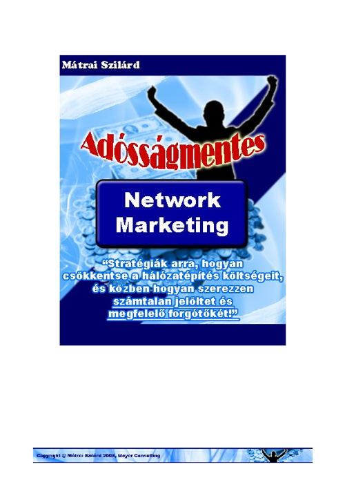 Adósságmentes Network Marketing