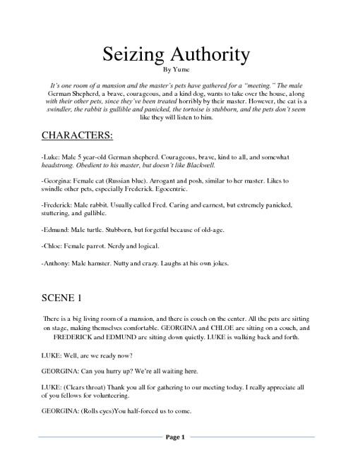 Seizing Authority