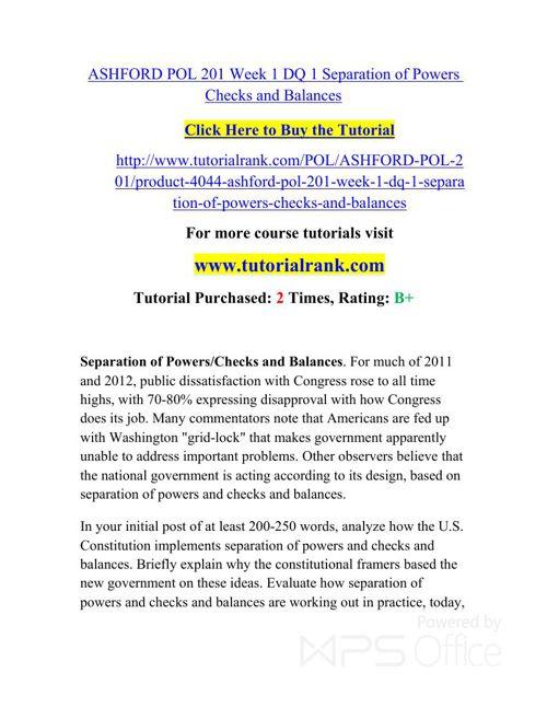 POL 201 Potential Instructors / tutorialrank.com
