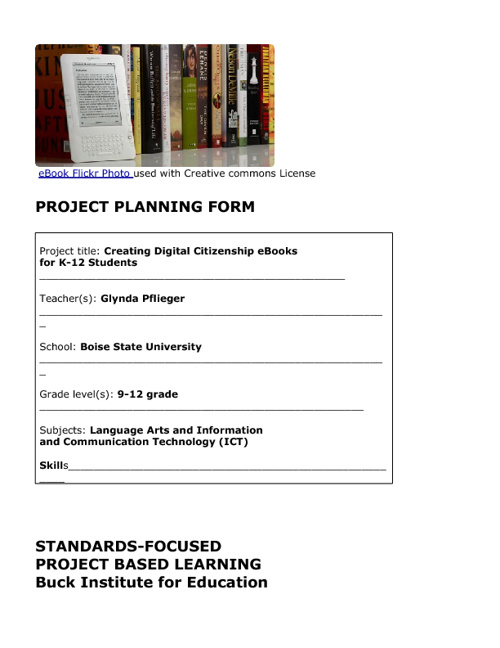 Digital Citizenship K-12 eBook with Project-Based Learning