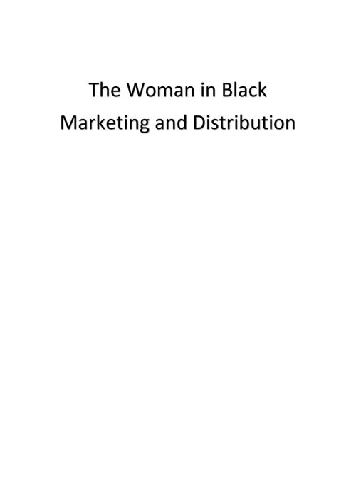 The Woman in Black - Marketing and Distribution