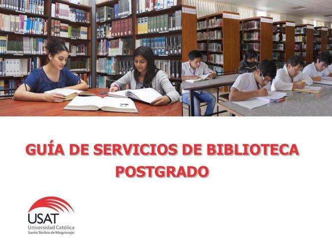 Servicios de Biblioteca: Postgrado