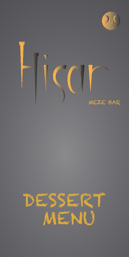 Hisar Meze Bar - Dessert Menu
