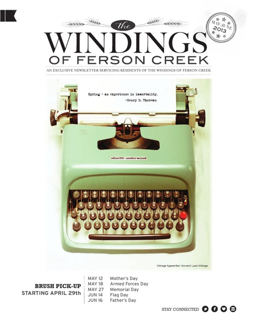 Windings Newsletter : April-May 2013
