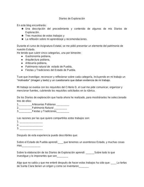Copy of DIARIO DE EXPLORACIÓN BLOG ASIGNATURA
