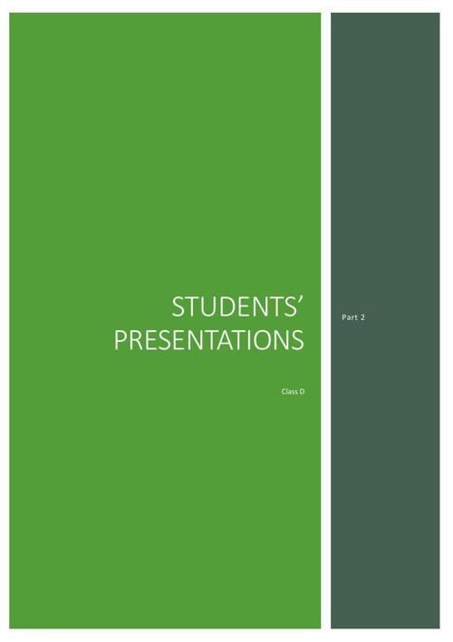 Students' Presentations Part 2