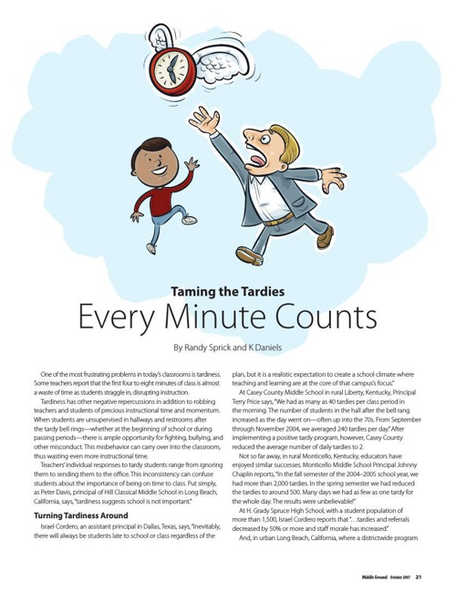 """Taming the Tardies: Every Minute Counts"""