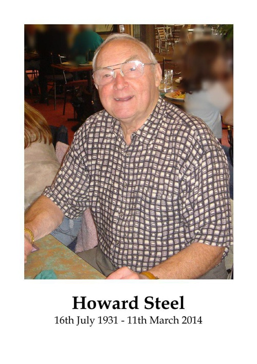 4 Order of Service for Howard Steel