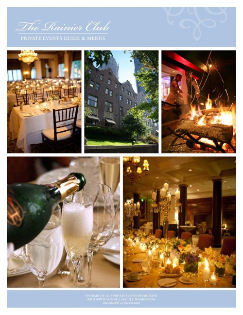 Private Event Guide and Catering Menus of The Rainier Club