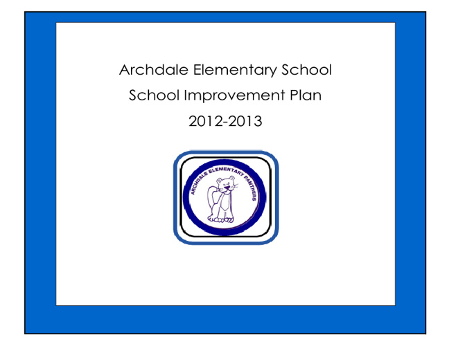 AES School Improvement Plan for 2012-2013